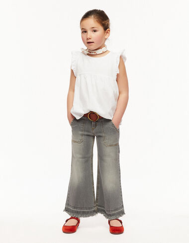 Pantalón ancho bolsillos gris - Ver todo > - Nícoli