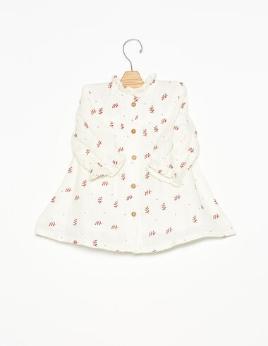 Robe col perkins bouquets fraise - Robes - Nícoli