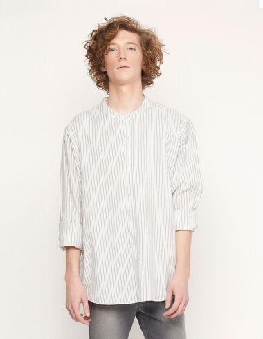 Camisa mao cruda rayas azul/fresa - Ver todo > - Nícoli