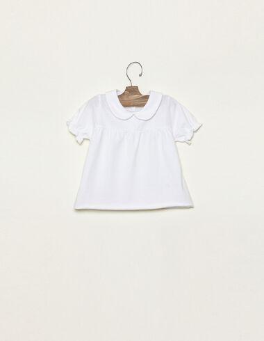 White collar neckline t-shirt - View all > - Nícoli