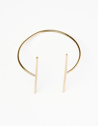Bracelet barre dorée - The B&W Dress - Nícoli