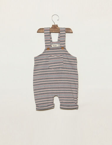 Pink striped dungarees with pocket - Playsuits & Dungarees - Nícoli