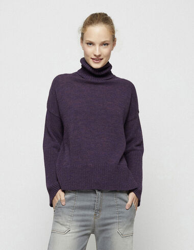 Berry turtleneck bell sleeve jumper - New in - Nícoli