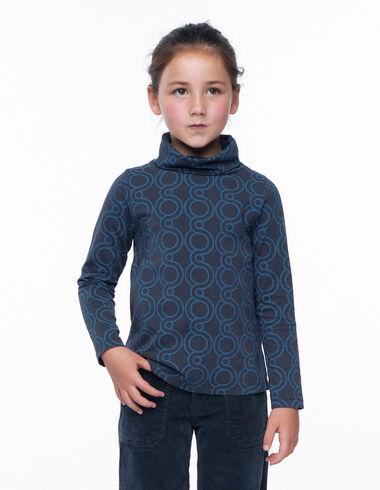 T-shirt col roulé print géométrique anthracite - Voir tout > - Nícoli