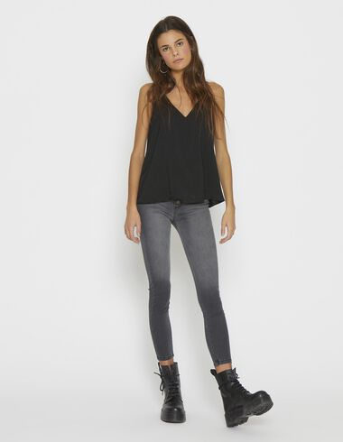 Girl's black strappy top - Tops - Nícoli