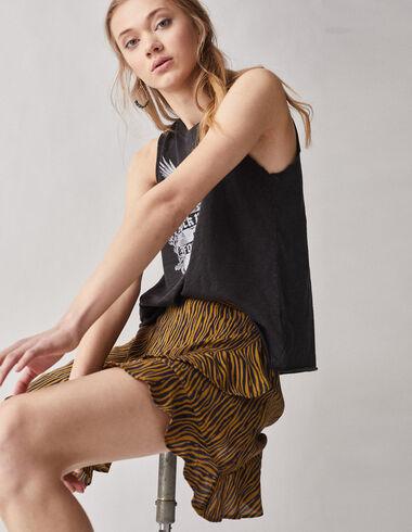 Mustard safari crossover skirt - View all > - Nícoli