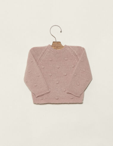 Baby´s pink jumper with bobble - View all > - Nícoli