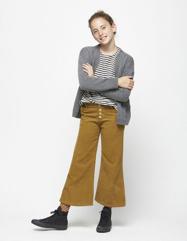 Nut corduroy trousers with buttons - Trousers - Nícoli