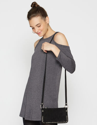 Girl's grey sparkly shoulder dress - View all > - Nícoli