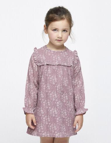 Berry flower yoke dress - Dresses - Nícoli