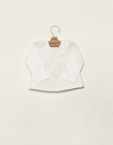 T-shirt col à volant écru - Voir tout > - Nícoli