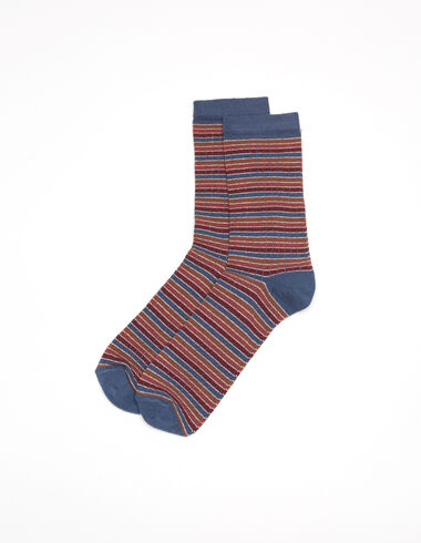 Chaussette rayures terre - Chaussettes - Nícoli