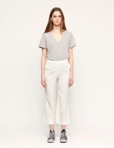 Ecru palm trees straight leg trousers - View all > - Nícoli