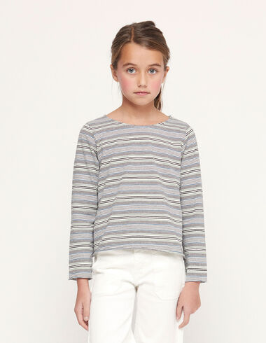 Green striped long sleeved t-shirt - Special prices - Nícoli