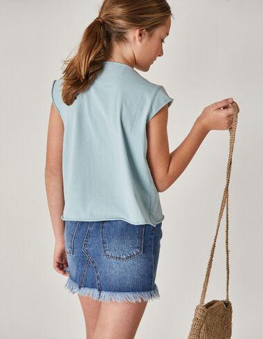 Girl's denim mini skirt - Skirts - Nícoli