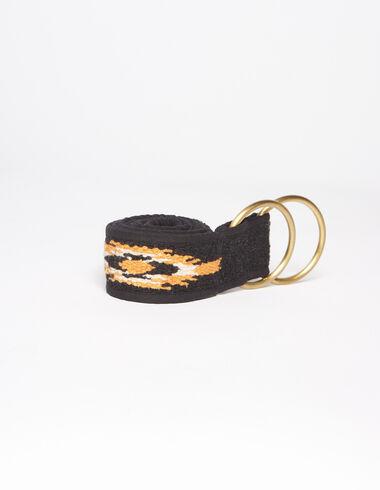 Anthracite and orange ethnic belt - Black is Back - Nícoli