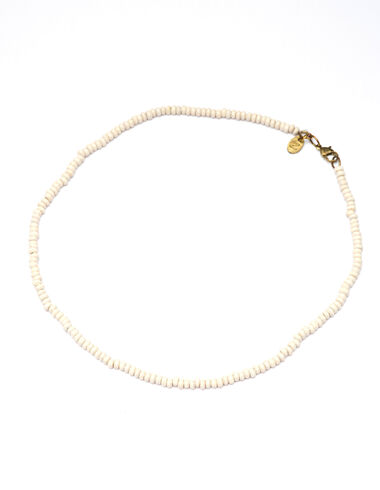 Ecru short beaded necklace - New in - Nícoli