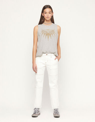 White trousers with topstitching - View all > - Nícoli