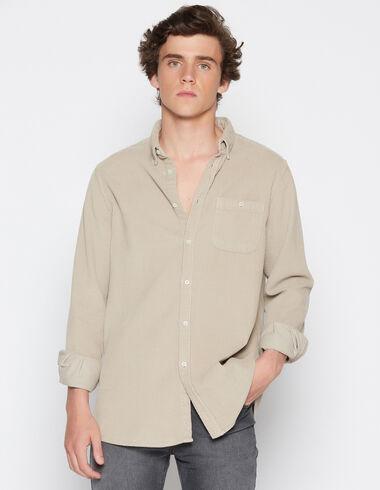 Boy's beige fat corduroy shirt - View all > - Nícoli