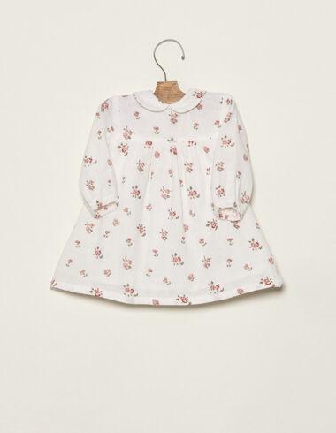 Pink flower print baby dress - Dresses - Nícoli