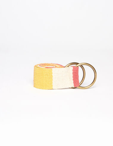 Strawberry checkered belt - All About Colours - Nícoli