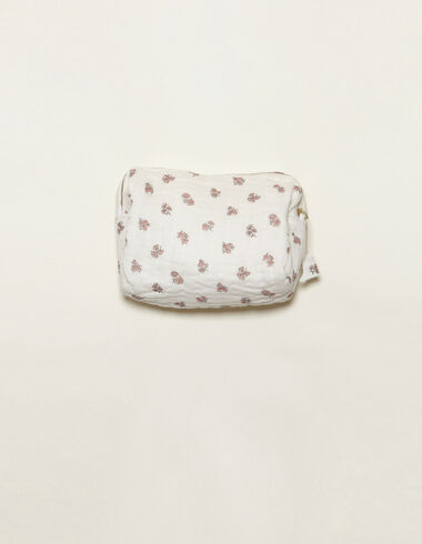 Pink flower print toiletry bag - Accesories - Nícoli