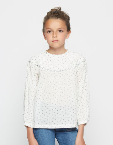 Girl's lavender flower blouse - View all > - Nícoli