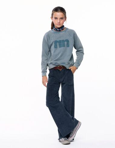 Pantalon wide leg poches côtelé anthracite - Voir tout > - Nícoli
