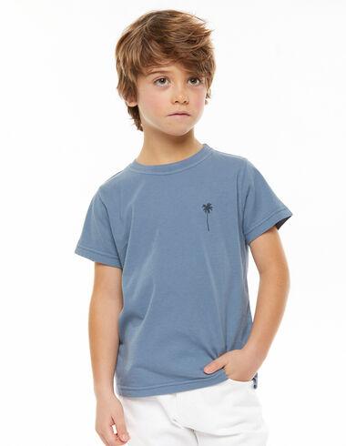 Camiseta palmera azul - Beach Time - Nícoli