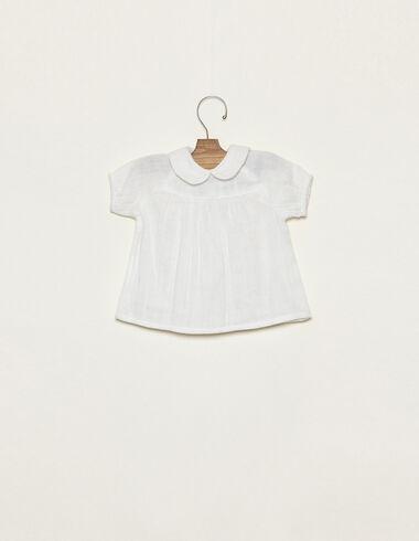 Camisa cuello bebé blanca - Ver todo > - Nícoli