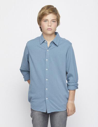 Polo camisero azul - Polos - Nícoli