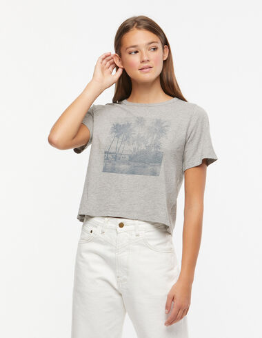 T-shirt palmiers gris - Voir tout > - Nícoli