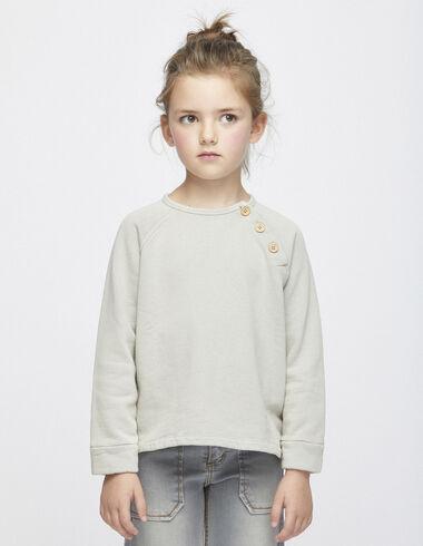Taupe sweatshirt with buttons - View all > - Nícoli