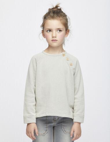 Sweatshirt taupe à boutons - Voir tout > - Nícoli