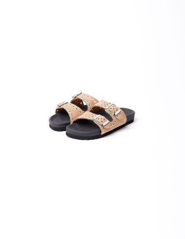 Sandalia tachuelas hebillas marrón - Ver todo > - Nícoli
