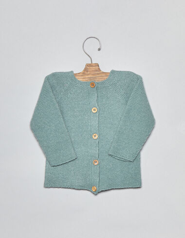 Light green baby cardigan - Cardigans - Nícoli