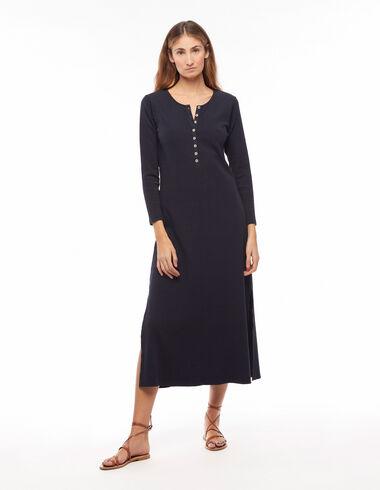 Robe longue côtelée anthracite - Robes - Nícoli