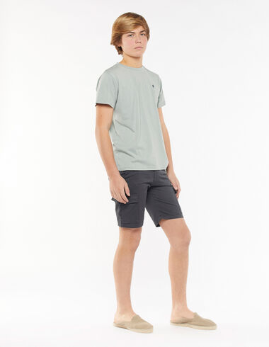 Anthracite short chinos with pockets - Shorts - Nícoli