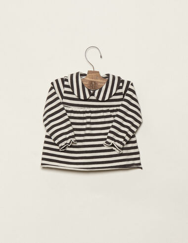 Off-white/anthracite baby top - T-shirts - Nícoli