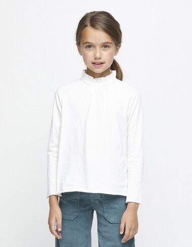Camiseta cuello perkins cruda - Camisetas - Nícoli