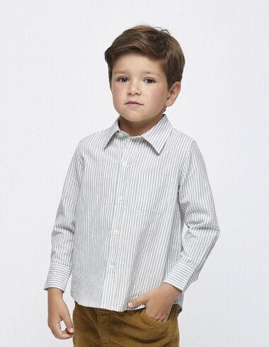 Blue stripe v-neck blouse - View all > - Nícoli