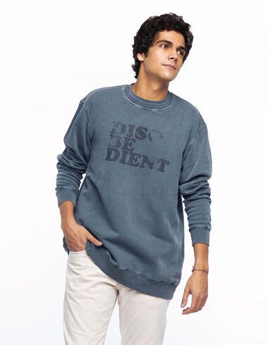 Sweat-shirt disobedient bleu foncé - Voir tout > - Nícoli