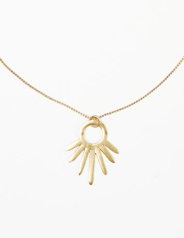 Sun necklace in gold tone - Necklaces - Nícoli