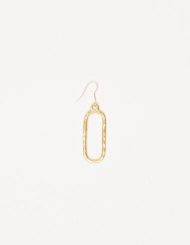 Pendiente ovalo grande dorado - The jewellery edition - Nícoli