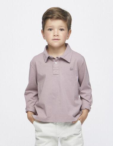 Berry long sleeved polo shirt - Polos - Nícoli