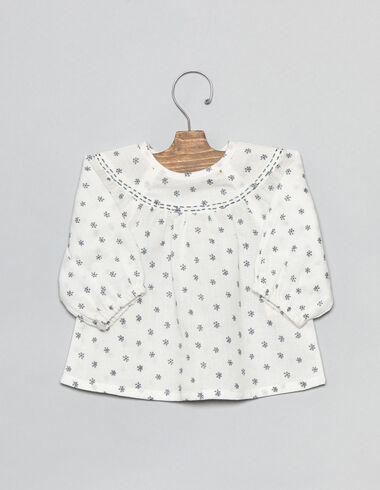 Lavender flower baby blouse - Shirts - Nícoli