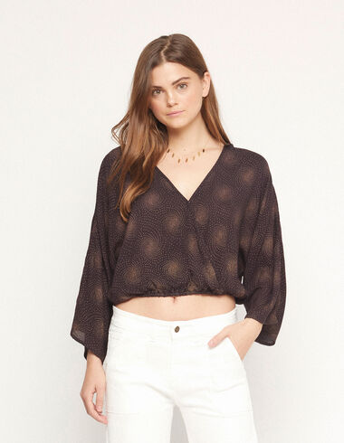 Anthracite spiral crossed shirt - View all > - Nícoli