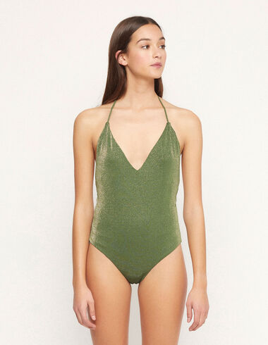 Green lurex swimsuit - View all > - Nícoli