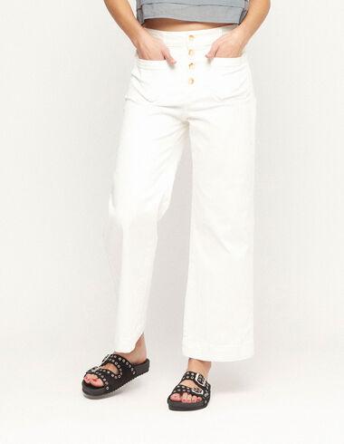 Pantalón bolsillos botones blanco - Ver todo > - Nícoli
