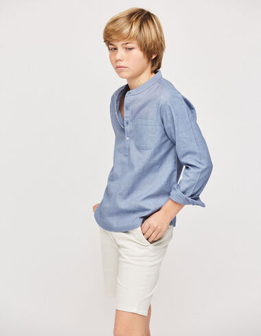 Chino corto niño blanco - Pantalones cortos - Nícoli